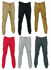 Mens Color biker moto  twill jogger pants