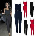 WOMENS CELEBRITY STYLE All IN ONE STRAPPY JUMPSUIT LADIES PLAYSUIT 8 10 12 14 16