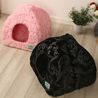 New Princess Pet Dog Cat Tent House Puppy Bed 2types Small Pink Black
