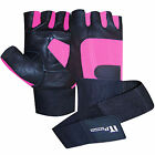 Leather Weight Lifting Gym Gloves Training Fitness Body Building Straps Padded