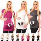 LOVE - Slogan Cotton Printed Maternity Pregnancy Top Tshirt Tee 2010