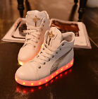 fashion womens USB charged linging sole lace up sneakers ankle boots flat shoes