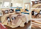 Twin Queen King Duvet Covers Comforter Sets 5Pc Lt Brown Mickey Mouse Bed Linens