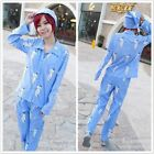 New Shingeki no Kyojin Attack on Titan Rivaille pajamas pyjamas cosplay Pant Hat