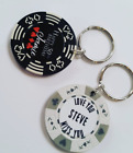Personalised Poker Chip Key Ring - Keepsake