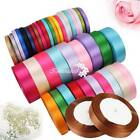 6 15 25mm Satin Ribbon Sewing Fabric Gifts Wrapping Wedding Party Decoration