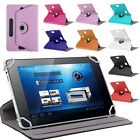 "UNIVERSAL FIT TABLET 7"" 7 INCH FLIP COVER CASE WITH STAND ROTATING 360 DEGREE"