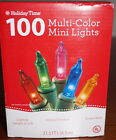 HOLIDAY TIME Multi Color 100  Mini Lights Green Wire **FREE SHIPPING**