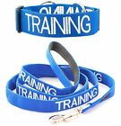 Dog Collar Leash Set Color Coded Blue TRAINING Pet Control Super Strong S M L XL