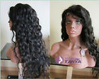 Body Wavy 100% Brizilian remay human hair full lace wig front lace wig 5 colors