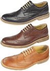 Mens New Black Brown Tan Leather Smart Fashion Memory Foam Brogues Shoes 6 - 12