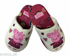Peppa Pig - Girls Cotton Blend Padded Slippers Cream - All Sizes
