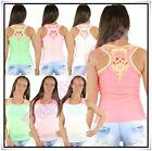 Sexy Ladies Gothic Punk Vest Top Women's Summer Casual Top One Size 8,10,12 UK