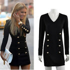 Sexy Women Long Sleeve Slim Fashion Bodycon Party Cocktail Evening Dress New