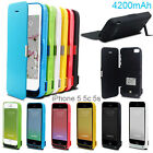 4200mAh Portable Battery Backup Power Pack Charger Clip Case For iPhone 5 5c 5s