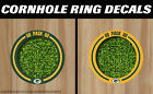 Green Bay Packers Cornhole Corn Hole Ring Bag Toss HD Ring Hole Decals - Set! on eBay