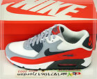 2015 DS Nike Air Max 90 Essential White Wolf Grey Red 537384-039 US 8~12 Casual