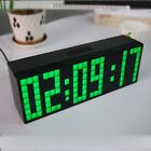 LED Wall Clock Digital Large Clock 6 Digit Snooze Alarm Countdown for Day