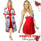 Ladies Valentines Day Gift Sexy Dressing Gown Women Bath Robe Lingerie Sleepwear