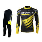 2015 Spakct Cycling Suits Long Sleeve Long Jersey & Tights Pants Black Yellow