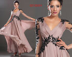 eDressit New Sexy V Neckline Back Evening Dress Party Prom Ball Gown UK 6-20