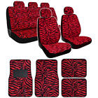15pc Zebra Premium Animal Print Seat Covers and Front & Rear Floor Mats