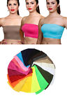Women's Basic Stretch Bandeau Bra Tube Top One Size FREE SHIPPING PRICE 4.98