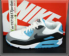 Nike Air Max 90 Essential White Charcoa Blue Grey Black 537384-100 US 11.5 NSW