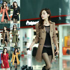 CA Womens Double Breasted Lace Fashion Trench Coat Outwear Long Jacket Overcoat