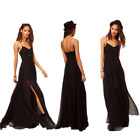 Sexy New Black Braces Backless Sleeveless Evening Gown Party Cocktail Prom Dress