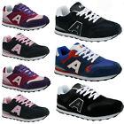 MENS LADIES JOGGING TRAINERS RETRO LACE RUNNING GYM WALKING SPORTS SHOES SIZE