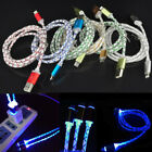LED light-up usb Charger Retractable cable FOR apple Iphone5/5s/5c/6/6plus