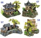 Pagoda Korean Gate Bamboo Garden Oriental Chinese Japanese Aquarium Ornament