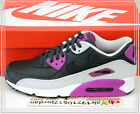 Nike Air Max 90 LTR Leather Anthracite Purple Black 652980-005 US 8~12 Casual