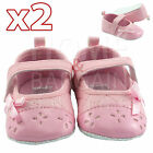 GIRLS KIDS BABY INFANT BOOTIES 2PAIR TODDLER PINK SNEAKER NEWBORN TRAINERS 6-18M