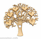 MDF Our Family Wall Plaque Tree Shape Memory Tree Craft, Embellishment