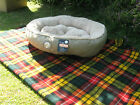 PET BED ROUND SNUG & COSY COMFORT LUXURY MICROPLUSH LINING 3 COLOURS
