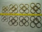 """'O' Rings (x5 Per Pack): 1"""", 1 3/8"""", 1 1/2"""", 1 3/4"""": Solid Brass Or Chrome."""