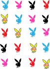 Playboy Waterslide /water Transfer Nail Decals / Nail Art