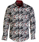 CLAUDIO LUGLI Shirt Men's L/S Marilyn Monroe Print Smart Fitted Shirt