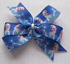 Elsa Hair Bows Inspired by Disney's Frozen - Clips Or Bobbles (Design #3)