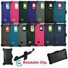 for Samsung Galaxy Note4 defender case w / build in screen protector&belt clip