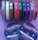 Organdie Ribbon from Celebrate- 6mm x 8 metre Assorted Colours