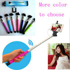 Extendable Selfie Wired Handheld Monopod Stick Phone Holder Remote for iPhone