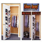 Shoe Away Rack 30 Pairs Over Door Shelves Organizer Hook Holder Storage Unit New