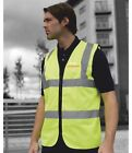 WESSEX 4 X 4 RESPONSE  HI VIS ZIP FRONT WAISTCOAT LOGO TO FRONT AND BACK