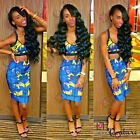 Womens Sexy Party Clubbing Two Piece Bra Crop Top and Bodycon Fitted Skirt Dress