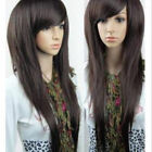 Women's Straight Long Full Hair Wigs Cosplay Party Wig With Inclined Bangs Gift