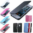 Magnetic Leather Flip Hard Case Cover Skin For Apple iPhone Samsung AntiScratch