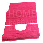 LUXURY COTTON BATH MAT SET 2PC PEDESTAL MAT 100% COTTON 5COLOUR MACHINE WASHABLE